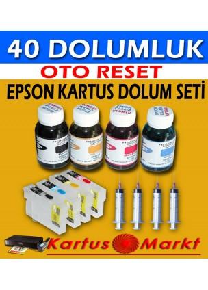 Epson T0711-T0714 (4 Renk) Uyumlu Kartuş Dolum Seti