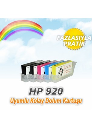 HP 920 (4 renk) Uyumlu Kolay Dolan Kartuş cipli